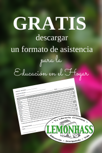 Formato de Asistencia para la educación en casa gratis en Lemonhass.com