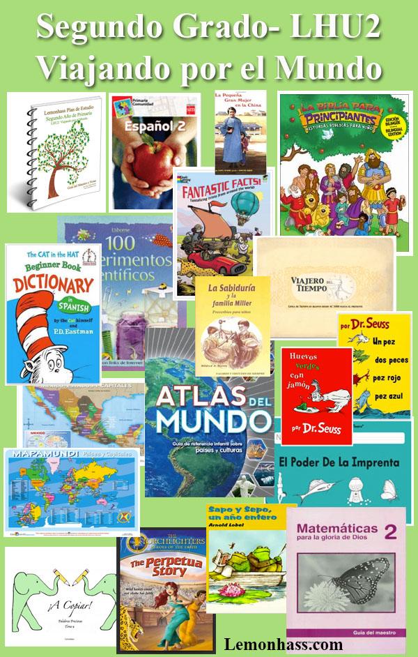 Segundo Grado, Lemonhass Unidad 2, LHU2, materiales en español para educar en casa Lemonhass.com