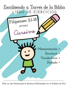 Filipenses 2:1-18, Caligrafía Cursivo, descarga
