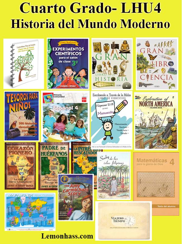 Cuarto, LHU4, materiales en español para educar en casa, Lemonhass.com