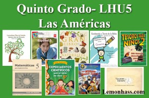 Quinto Grado, primaria, materiales en español para educar en casa, Lemonhass.com