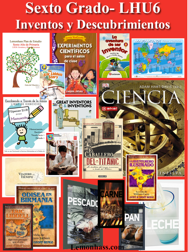 Sexto Grado, LHU6, materiales en español para educar en casa, www.Lemonhass.com