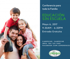 conferencia de educación sín escuela, lemonhass mayo 6, 2017
