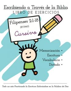 Filipenses, caligrafía, memorización, cursivo, Escribiendo por la Biblia, Lemonhass.com