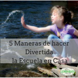 5 Maneras de Hacer Divertida la Escuela en Casa en Lemonhass.com