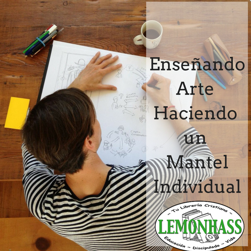 Enseñando arte con un mantel individual por Lemonhass.com