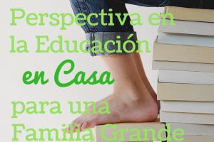Manteniendo la Perspectiva en la Educación en Casa para una Familia Grande